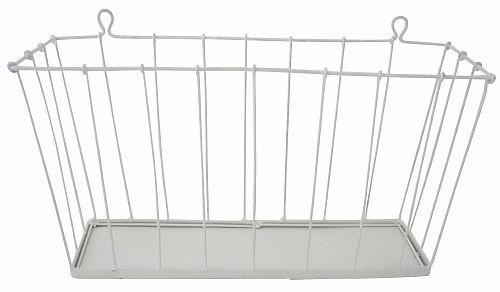 Alimrose wire wall basket - white    www.alimrose.com.au