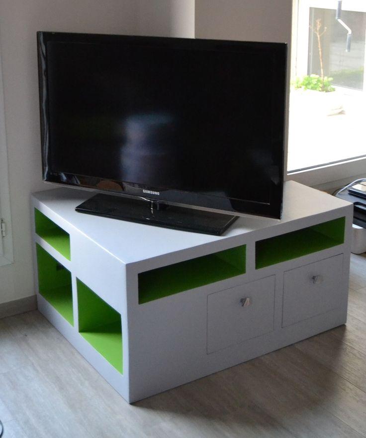 1000 id es sur le th me meuble tv angle sur pinterest - Meuble tv pinterest ...