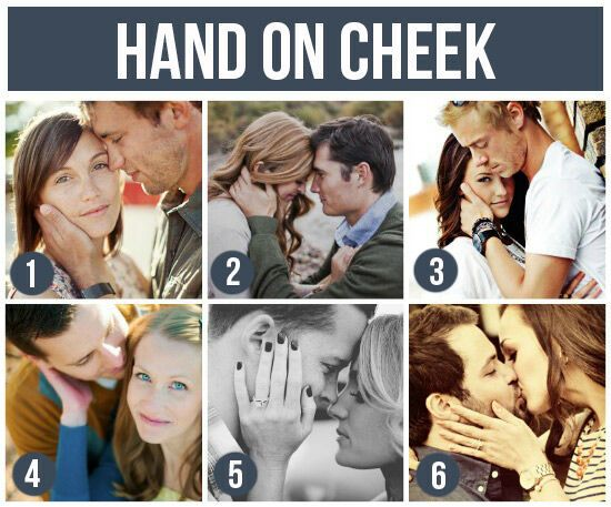 Pose Ideas for Couples: Hand On Cheek