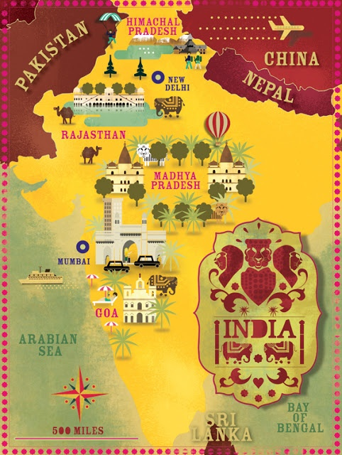 India map by Cartographik (Alexandre Verhille)