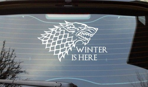 Winter Is Here Car Decal Game Of Thrones King In The North Jon Snow