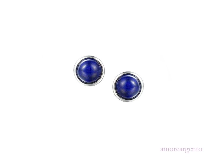 Arabian Nights Earrings - This simple design contains beautiful semi-precious cabouchon lapis.We are passionate about colour and these wonderful lapis earrings ooze vivid colour! Fantastic with so many of your outfits and certain to brighten up that special occasion - http://goo.gl/Hcn9UA