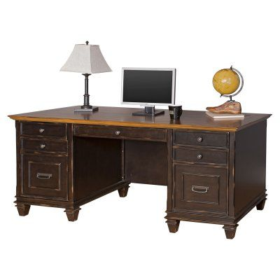 Martin Furniture Hartford Double Pedestal Desk - IMHF680