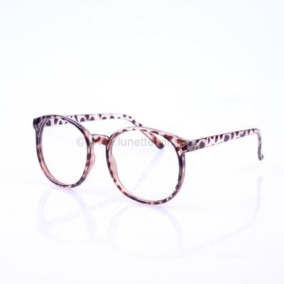 Pour un style ultra vintage ou Geek optez pour cette paire de lunettes à verres transparents de forme ronde. #geek #leopard #vintage