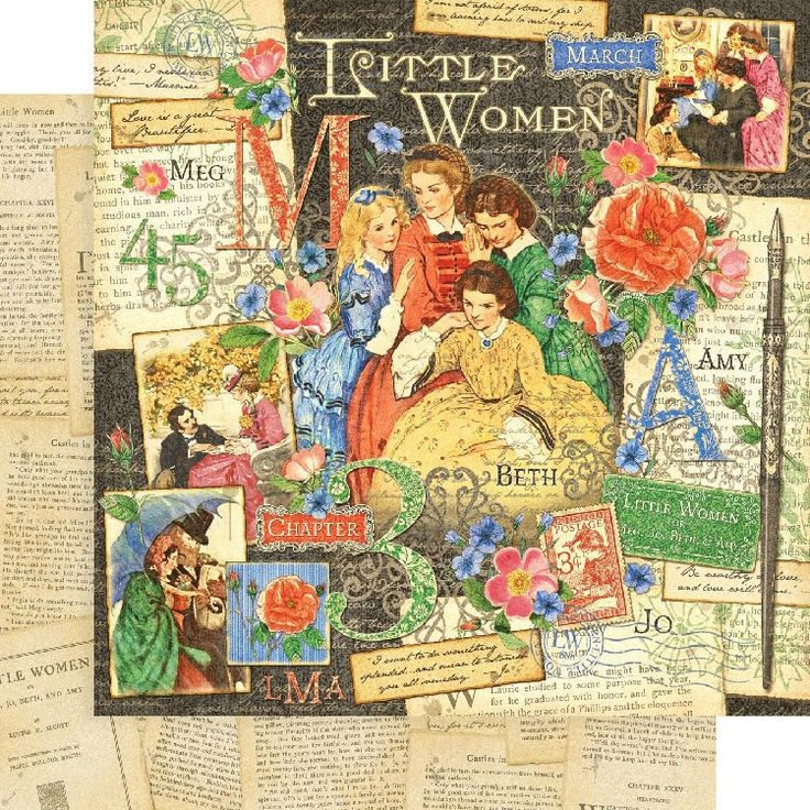 007 Graphic 45 Little Women Paper Graphic 45 / Bohemian