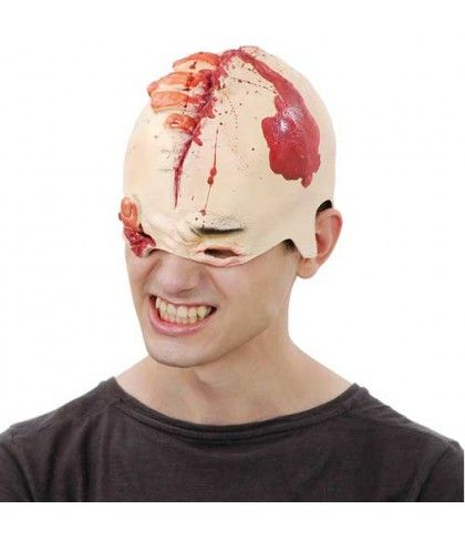Μάσκα λάτεξ Κρανίο Με Αίμα Και Πληγές