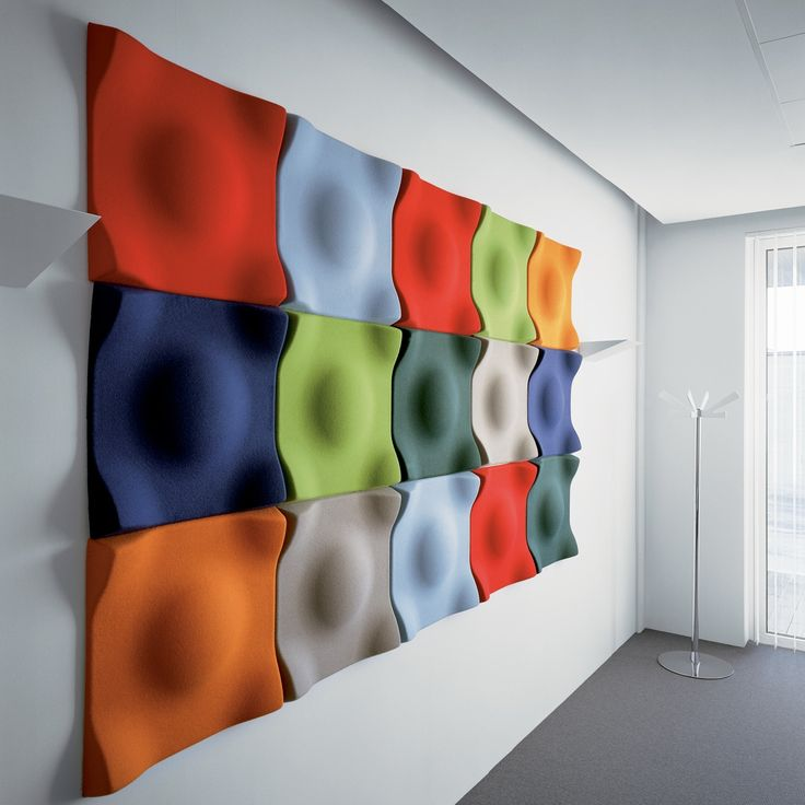 Swell Acoustic Wall Panels Concept - Not this actual color pallet/pantones