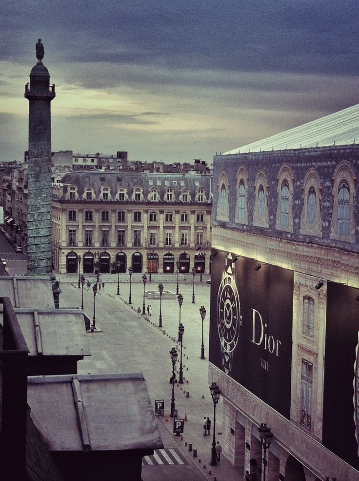 Place Vendome in the evening