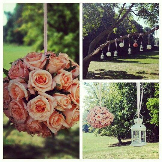 Dekoracje ślubne w ogrodzie