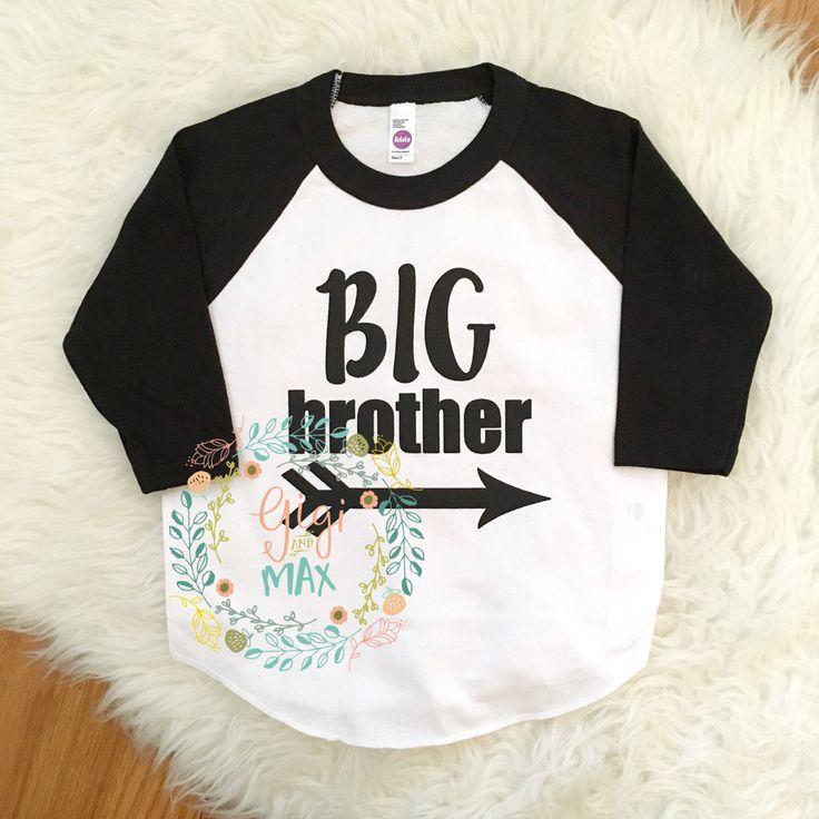 Big Brother raglan big bro tshirt, little boy big brother shirt, pregnancy announcement big brother t shirt by GigiandMax on Etsy https://www.etsy.com/listing/268162177/big-brother-raglan-big-bro-tshirt-little