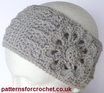 Free Crochet Patter Ear Head Warmer Headband http://www.patternsforcrochet.co.uk/headband.html