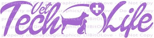 Vet Tech Life Dog Cat Medical Heart Technician Vinyl Decal Animal Pet Doctor Veterinarian Technician Tech Sticker for Car Auto YOUR CHOICE OF COLOR - 24 To Choose From For car auto vehicle sticker boa