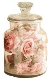pink roses in a glass