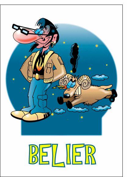 Carte Le signe du Bélier pour envoyer par La Poste, sur Merci-Facteur ! du 21 mars au 20 avril