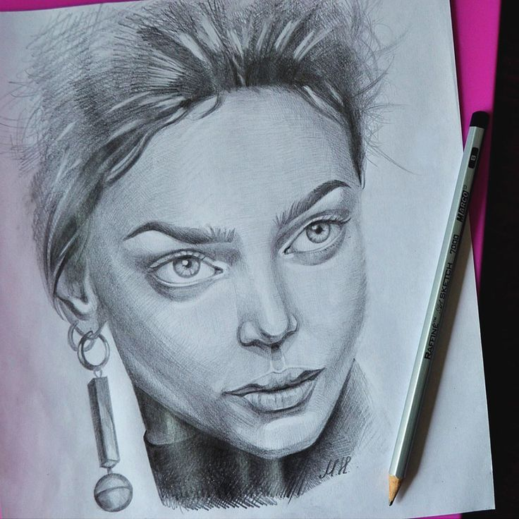 Портрет карандашом. Вдохновила модель - Женя Катава /  Zhenya Katava, art , drawing
