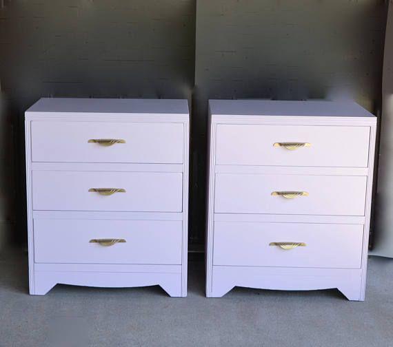 Sold Pair Of Large Bedside Tables 3 Drawer Dresser Dresser