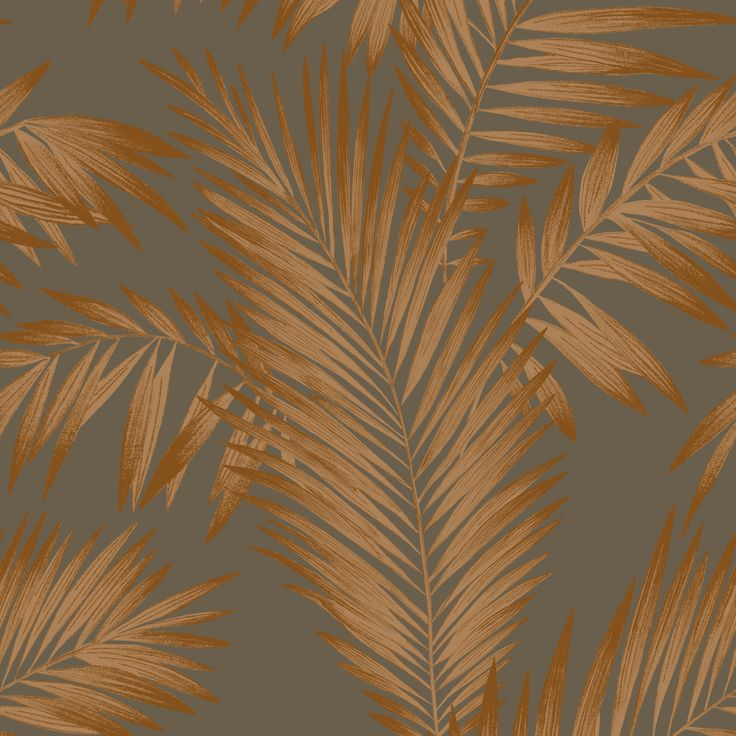 Arthouse Cressida Copper & Grey Leaves Glitter Wallpaper | Departments | DIY…