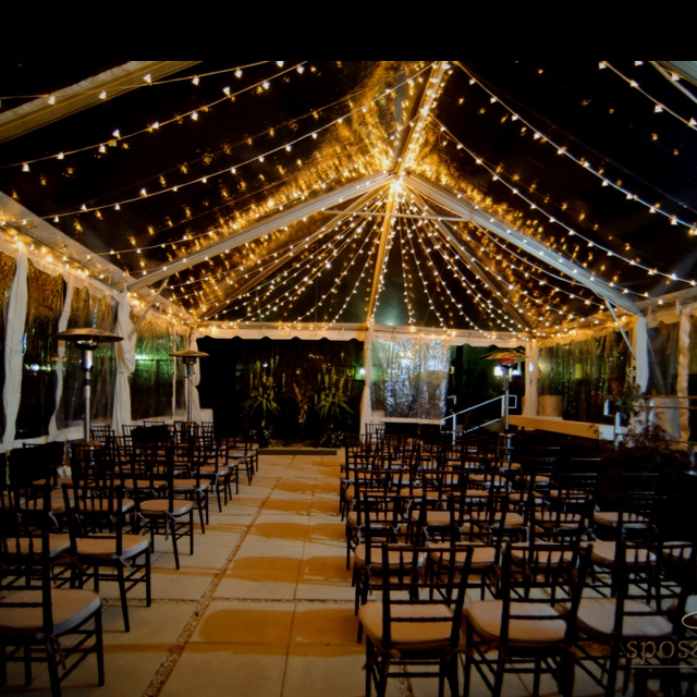 Princess Lighting In A Clear Tent B R Events Wedding Planner Greenville SC