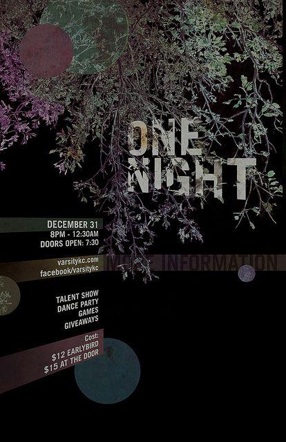one night poster v2 by Ryan Skjervem