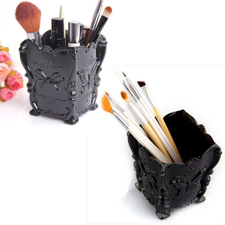 2016 New Black  Makeup Canister Mini Brush  Organiser Holder Makeup Cosmetic Storage Box Case Free Shipping | #MakeupStorage #StorageBoxes