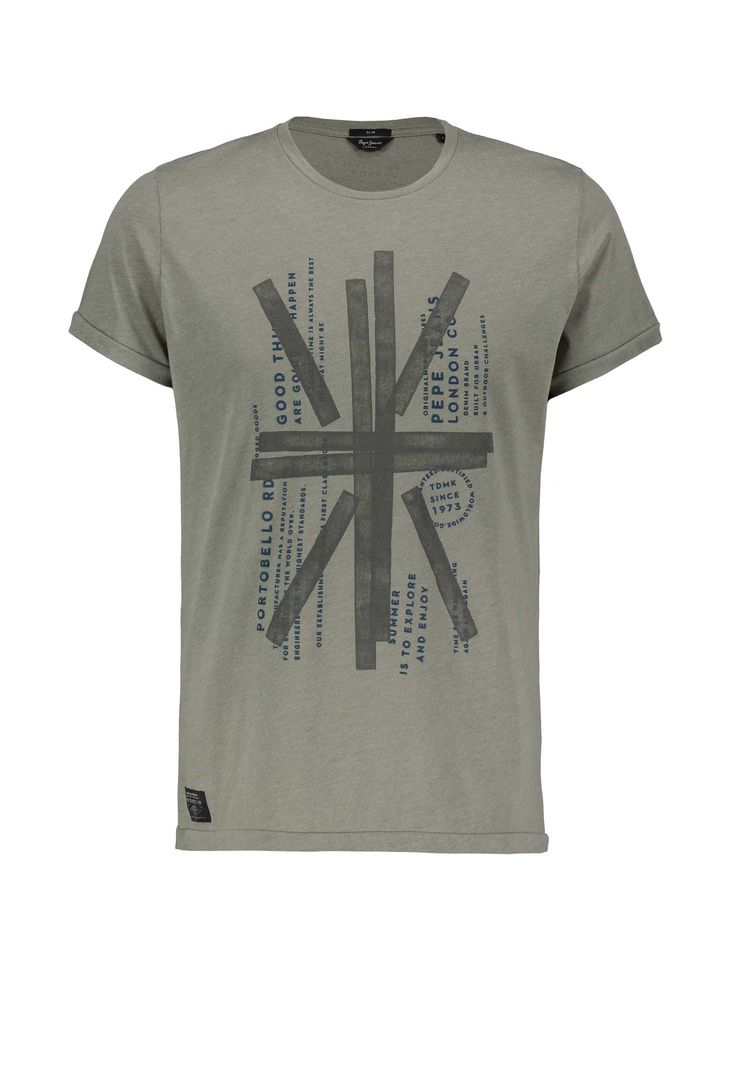 Pepe Jeans PM503550 Flag T-shirt Green • OPEN32