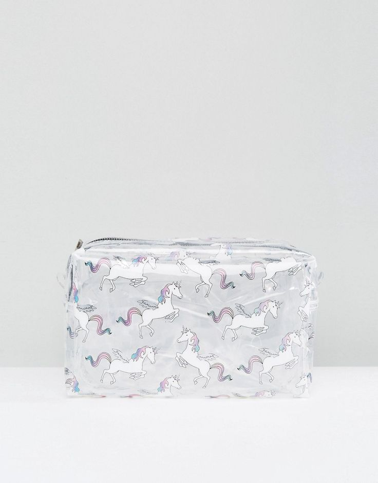 New Look Unicorn Oversized Toiletry Bag - White