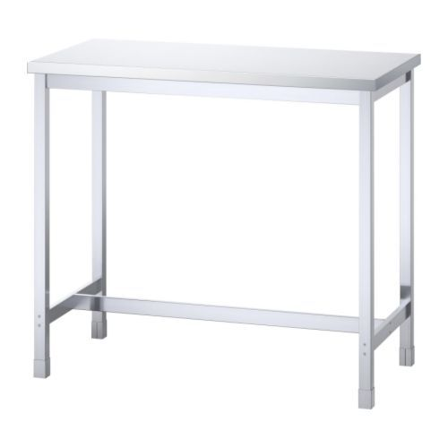 utby bar table stainless steel ikea maybe could hack
