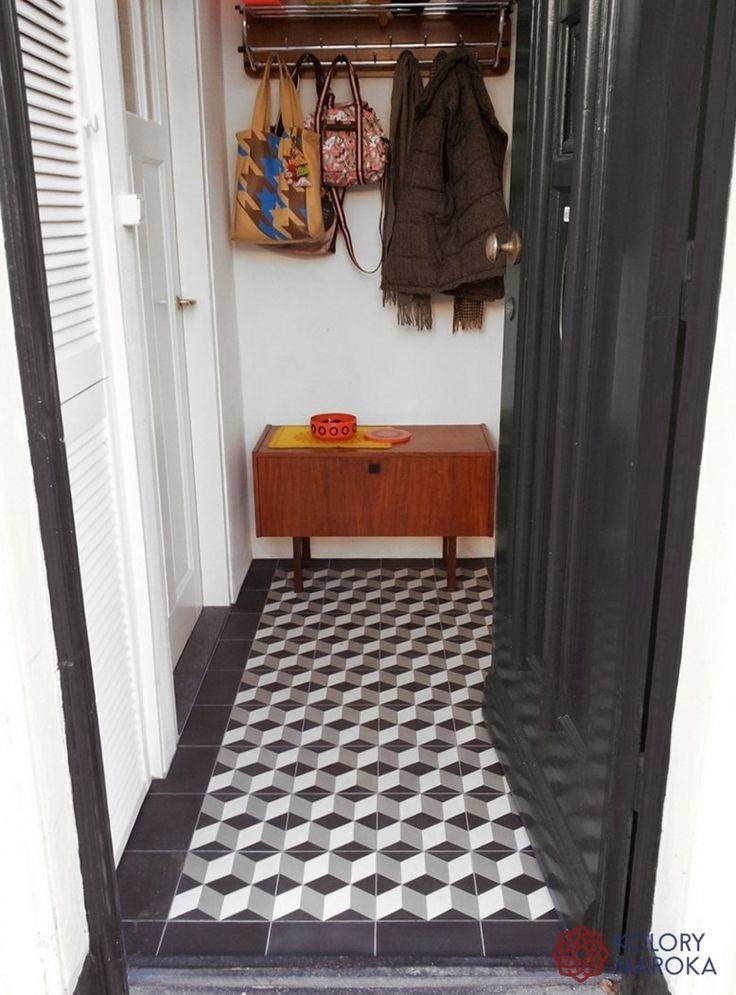 Eleganckie cementowe płytki stylizowane na wzór marokański - zdjęcie od Kolory Maroka - Hol / Przedpokój - Kolory Maroka