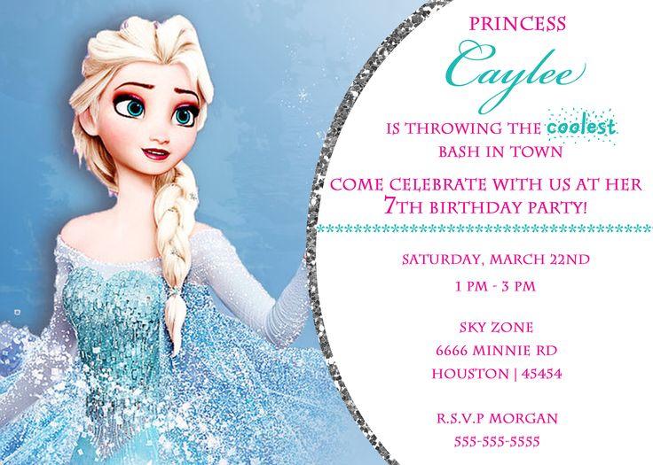 9 best Sophie Frozen Party images on Pinterest Frozen party - invitation birthday frozen