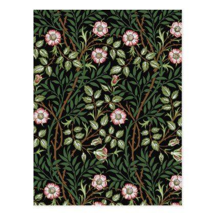 William Morris Sweet Briar Vintage Floral Pattern Postcard - pattern sample design template diy cyo customize
