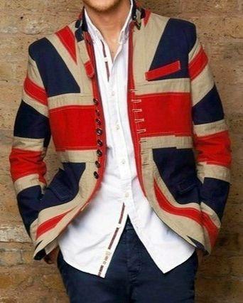 Union jack wearing