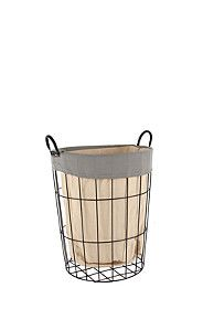 TWO TONE WIRE LAUNDRY BASKET