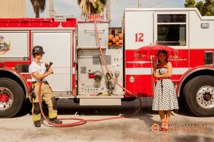 Miami Firefighter Engagement Session