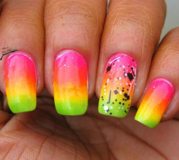25 Crazy Summer Nail Design Ideas (love theses colors!!!!!)