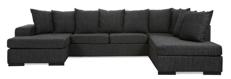 Chicago, 3-sits soffa med schäslong vänster och divan höger