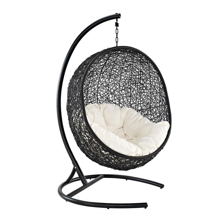 Cocoon Wicker Rattan Outdoor Wicker Patio Swing Chair U2013 Suspension Series  By LexMod