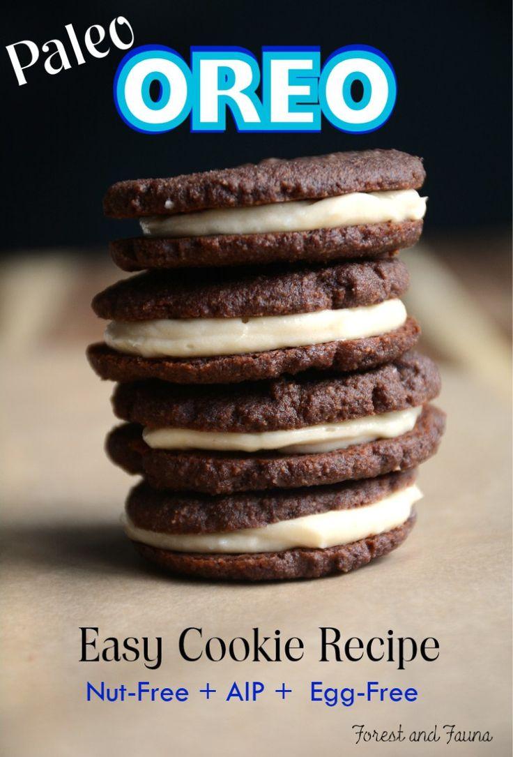 Paleo Oreo Cookie (aip, egg-free)