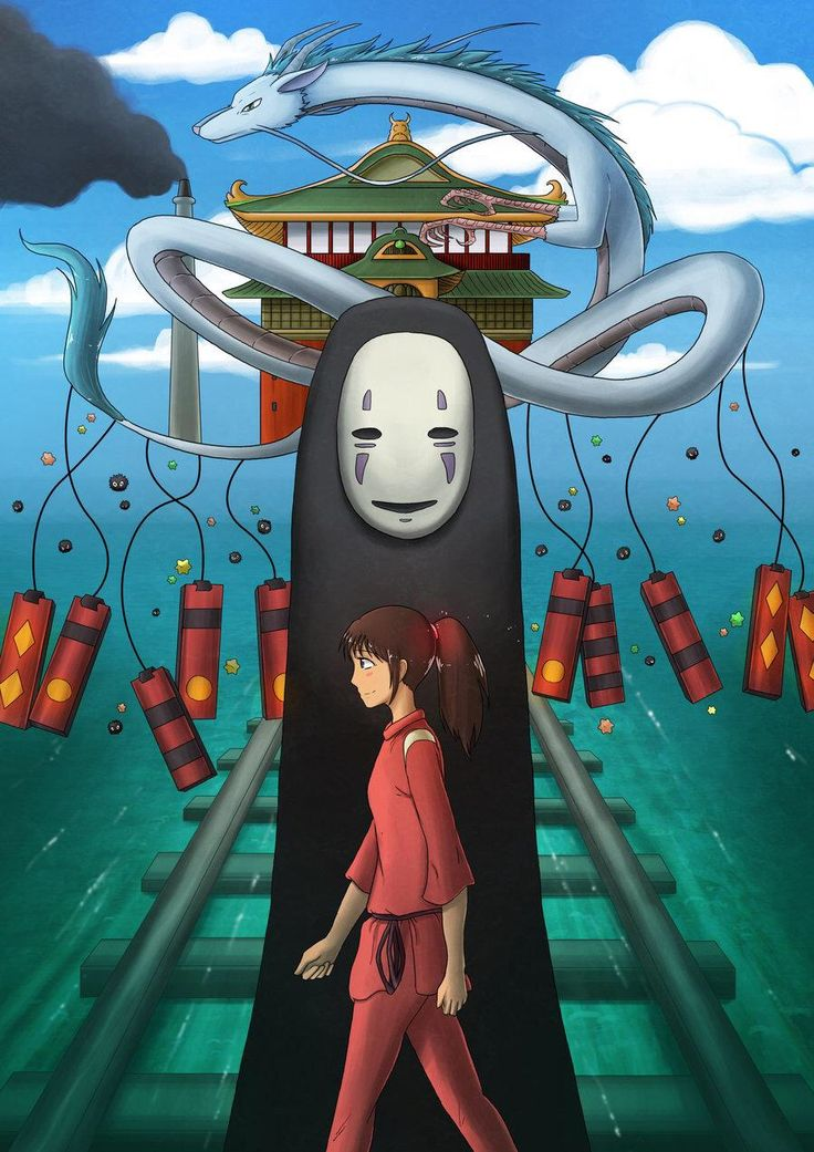 Картинка аниме унесенные призраками