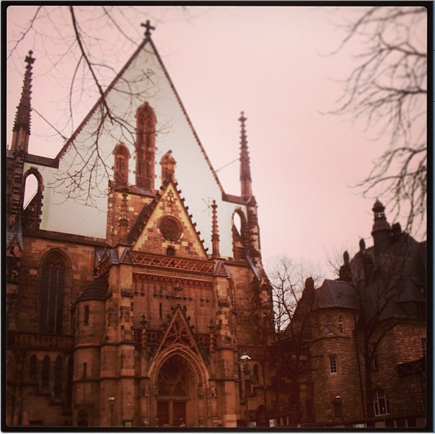 The famous Thomas Kirche in #Leipzig. The final resting place of Bach.    Picture Courtesy: Devaki Menon #CoxandKings