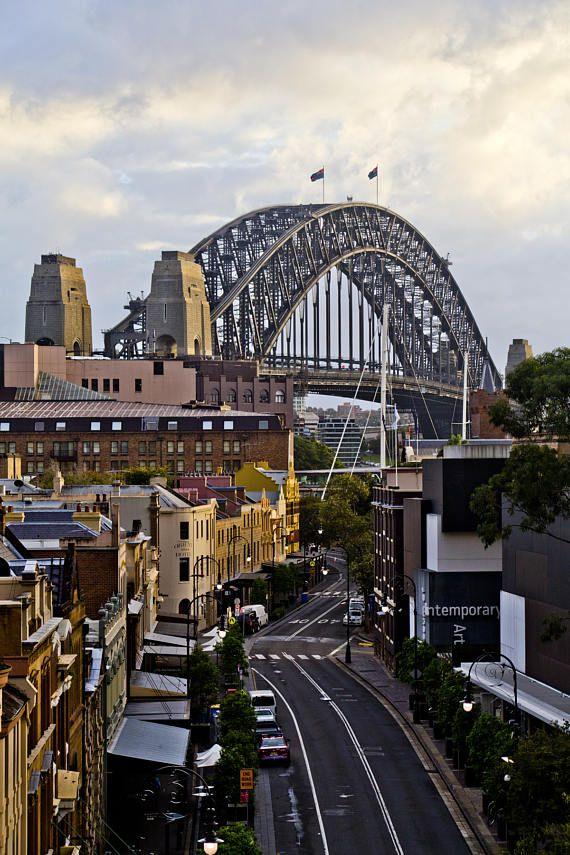 Sydney Harbour Bridge from The Rocks Sydney CBD Architecture