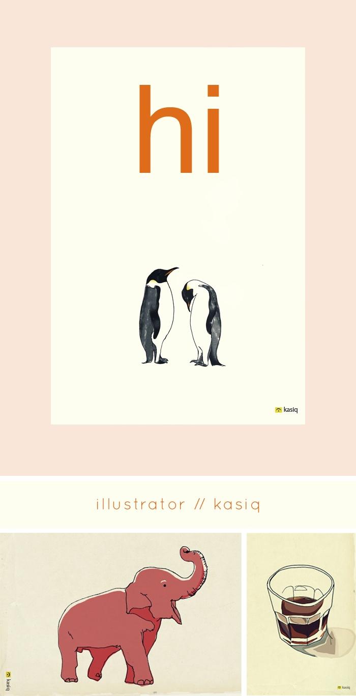 Penguins! Elephant! By Kasiq, illustrator