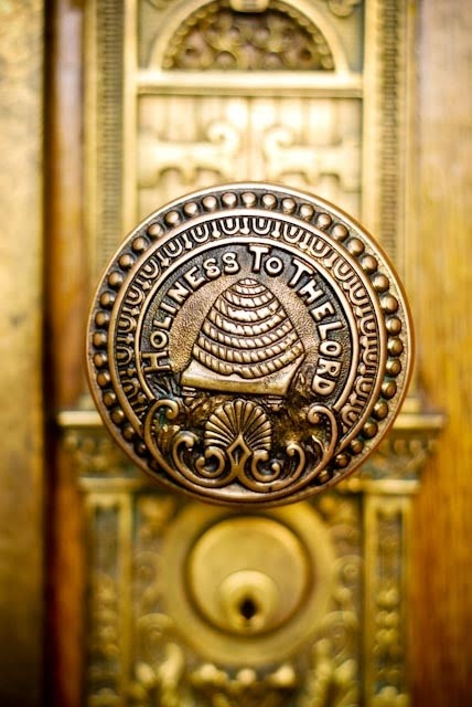 Temple door knob. Mormon LDS