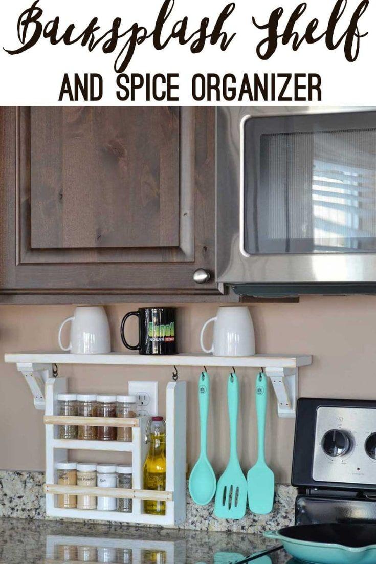 34 Inventive Kitchen Countertop Organizing Ideas To Keep Your Space Neat Kitchen Gadgets Organization Diy Kitchen Shelves Diy Kitchen