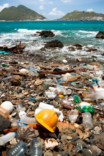 The Great Pacific Garbage patch containing millions of pounds of mostly plastic, is the largest landfill in the world, and it floats in the middle of the ocean.