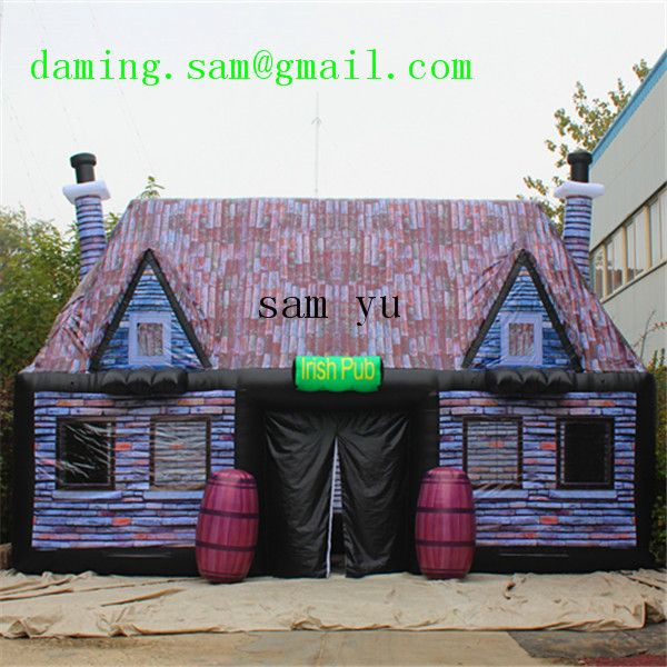 can be customized size inflatable pub inflatable Irish pub for sale, outdoor inflatable bar for party