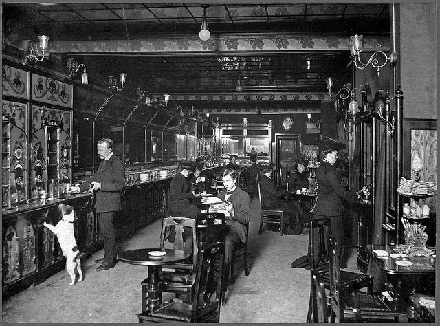Automated restaurant in Stockholm 1905 by Stockholm Transport Museum Commons, via Flickr