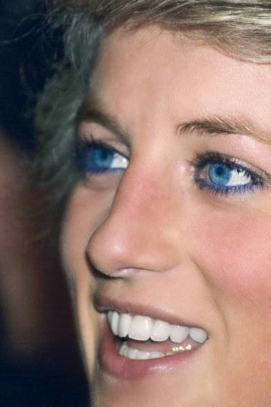 Diana, Princess of Wales. Famous for her blue liner on the lower lids to make…