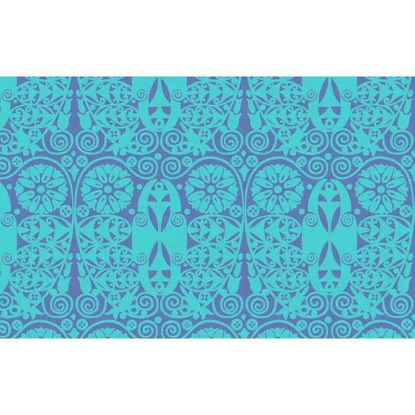 Amy Butler Soul Blossoms - Temple Doors-Deep Water Fabric