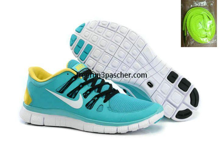 buy cheap Pas Cher Nike Free Run+ 4 Hommes Sport Turquoise Jaune couleur noire Blanc just $49.99