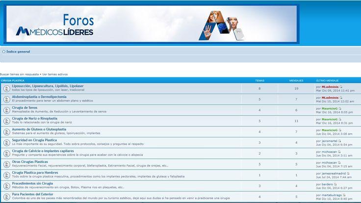 http://medicoslideres.com/foros/ Estrenado el foro de cirugia plastica más grande de Colombia #forocirugiaplastica #foro #cirugia #plastica #estetica #foros #colombia